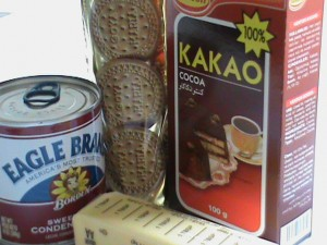Kakao,cookies, condensed milk & butter