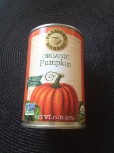 Can of pumpkin